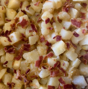 Step 6: Crumble bacon on top.
